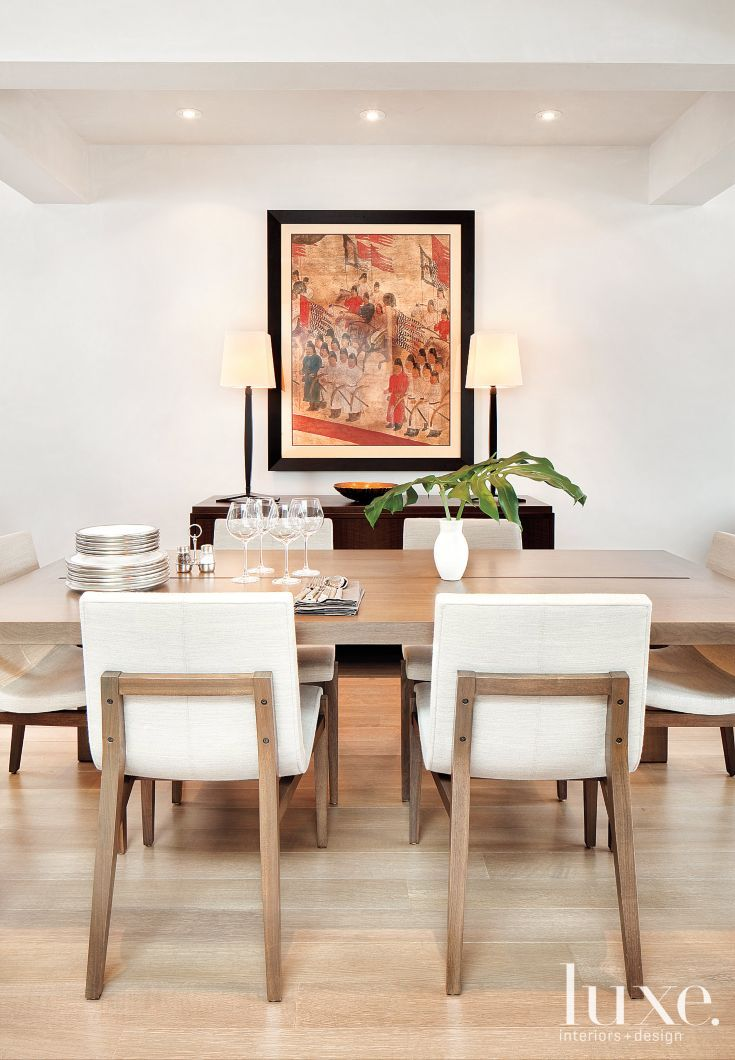 Dining Area With Cream Chairs, Cream Coloured Dining Room Chairs