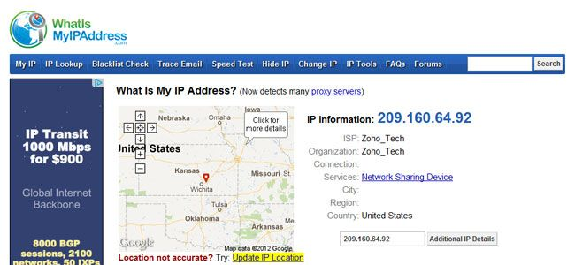 what is my ip address Are you on the Google list of Blacklisted