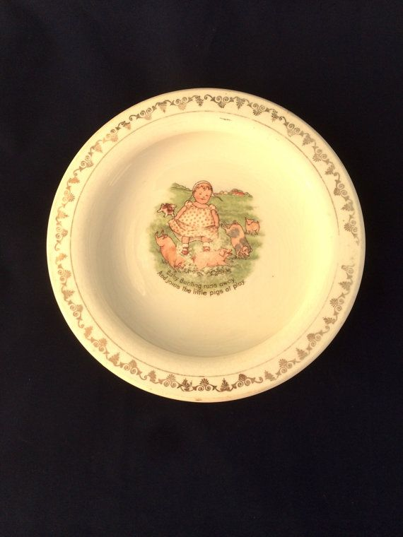 Antique Holdfast Baby Plate Baby Bunting by sweetserendipityvint & Antique Holdfast Baby Plate Baby Bunting Heavy Ceramic Bowl D.E. ...