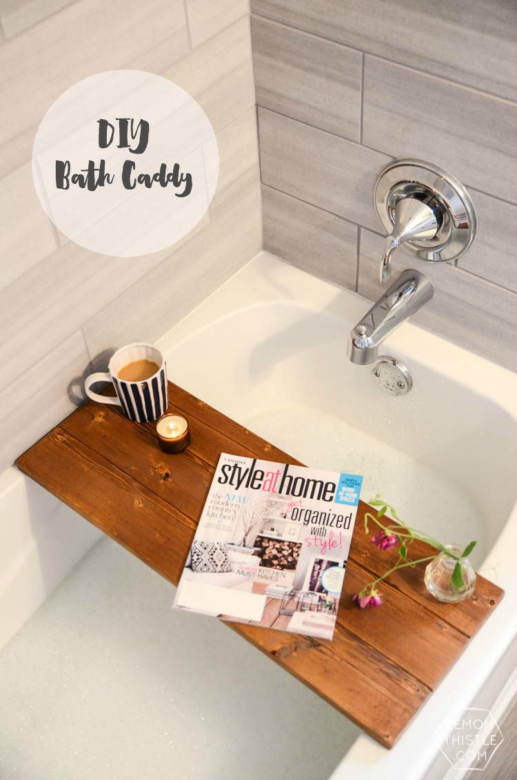 DIY Wooden Bath Caddy | DIY Decor | Pinterest | Bath caddy, Perfect ...