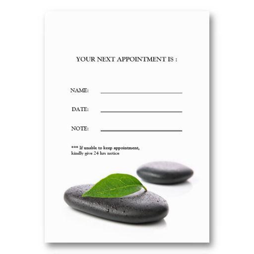 Massage Salon Appointment Card Business Card Template Appointment Cards Spa Business Cards Massage