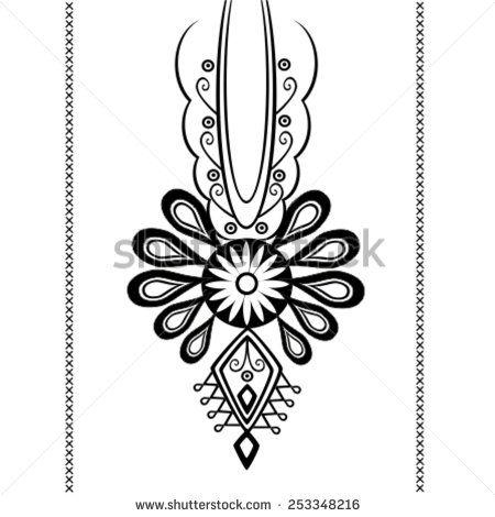 polish folk tattoo - stock vector