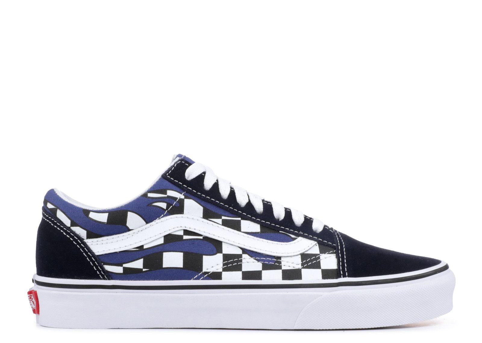 Vans Old Skool Blue & White Checkered Skate Shoes Blue, Mens Skate Shoes Mens, Skate Shoes