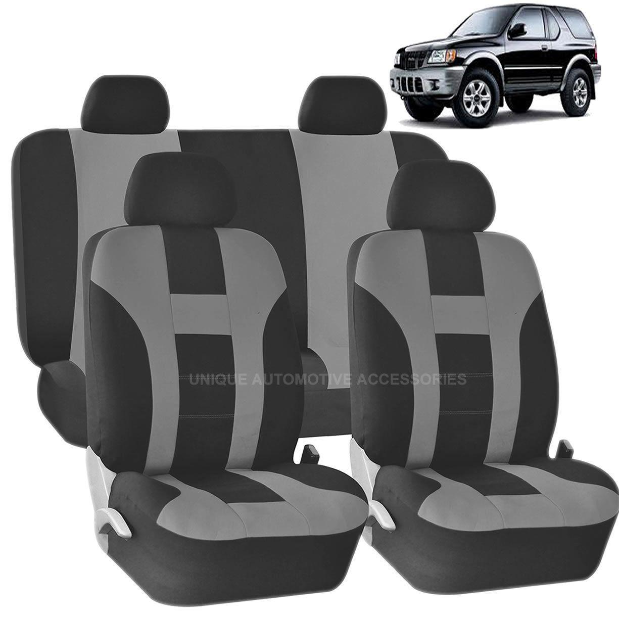 Car seat covers fit Nissan Pathfinder black//grey  leatherette full set