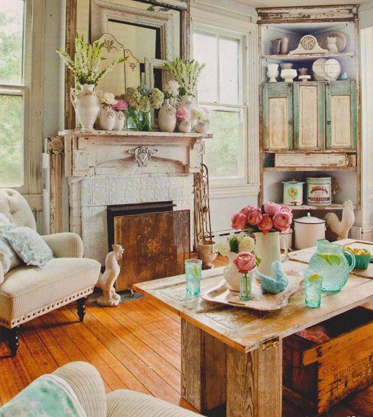Camini Shabby Chic: ecco 40 Idee Originali e Decorative | Rooms I ...