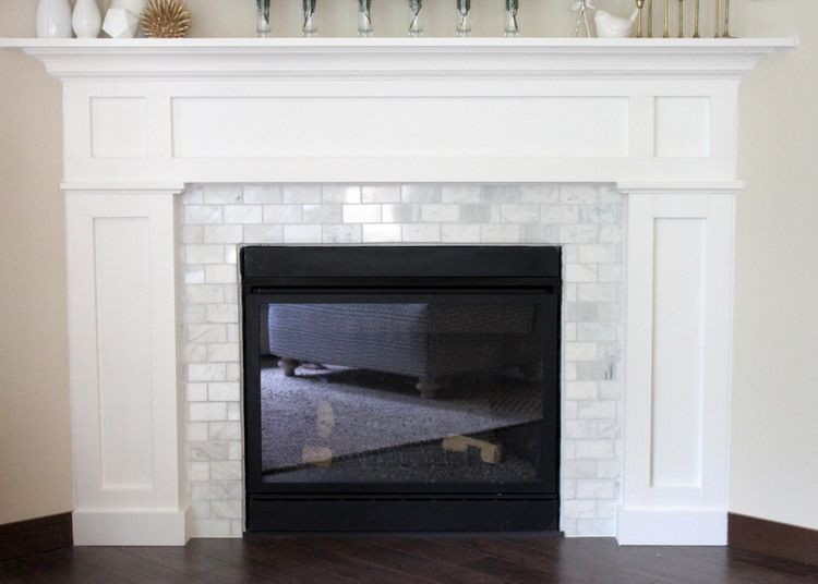 Fireplace Makeover Tile Around Fireplace Home Fireplace