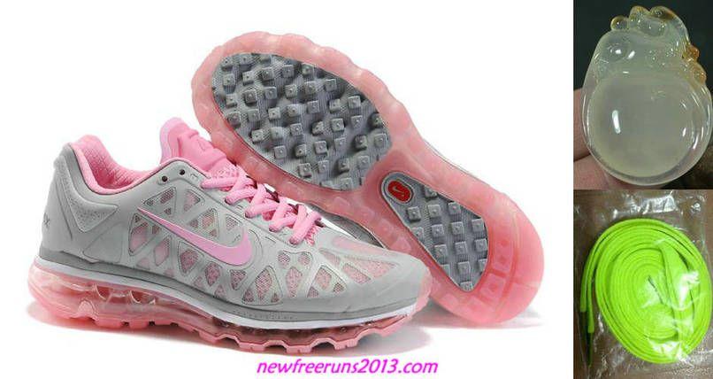 Cheap 2011 Womens Nike Air Max Grey Pink Sneakers