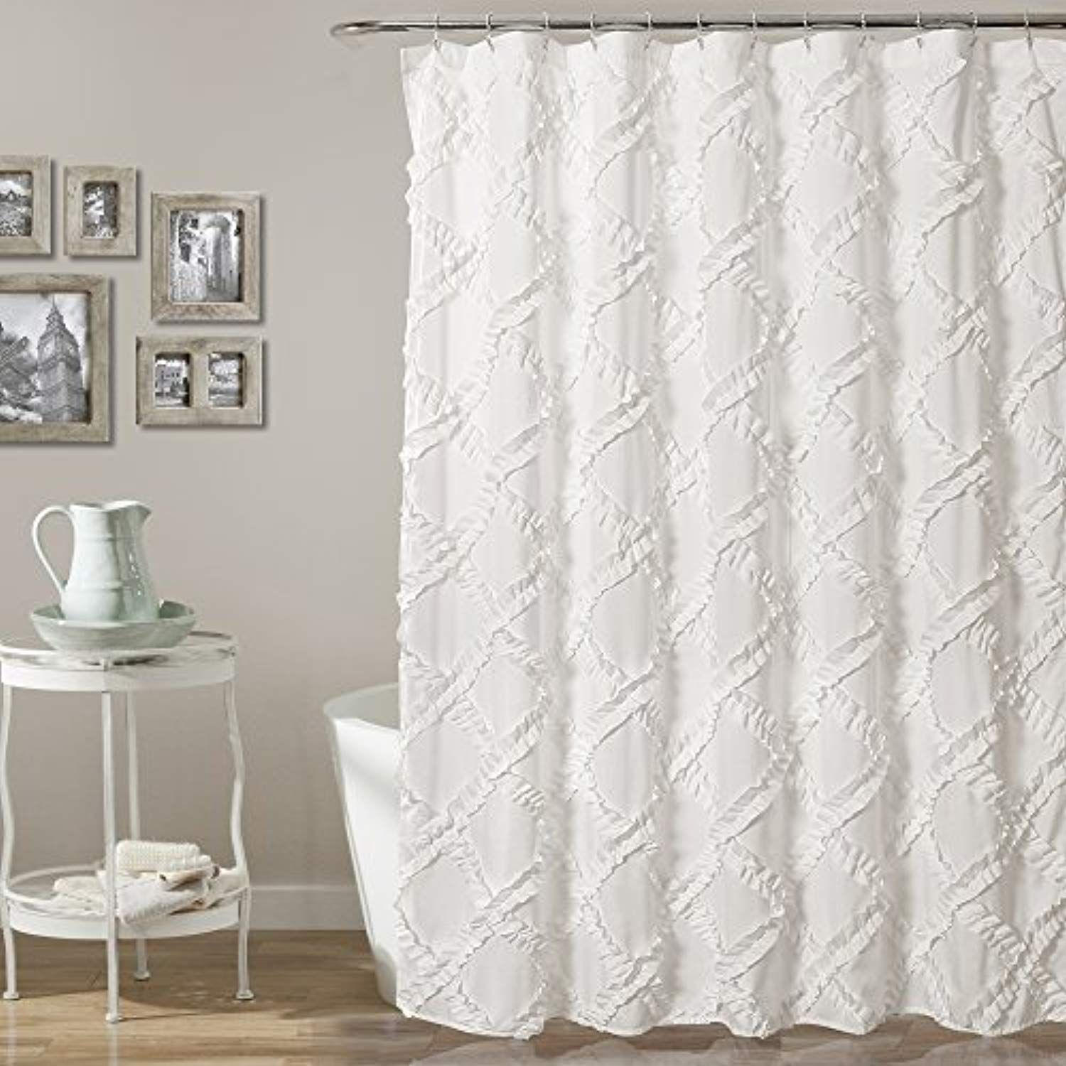 Lush Decor Ruffle Diamond Shower Curtain 72 X White Read More At The Image Link This Is An Affiliate
