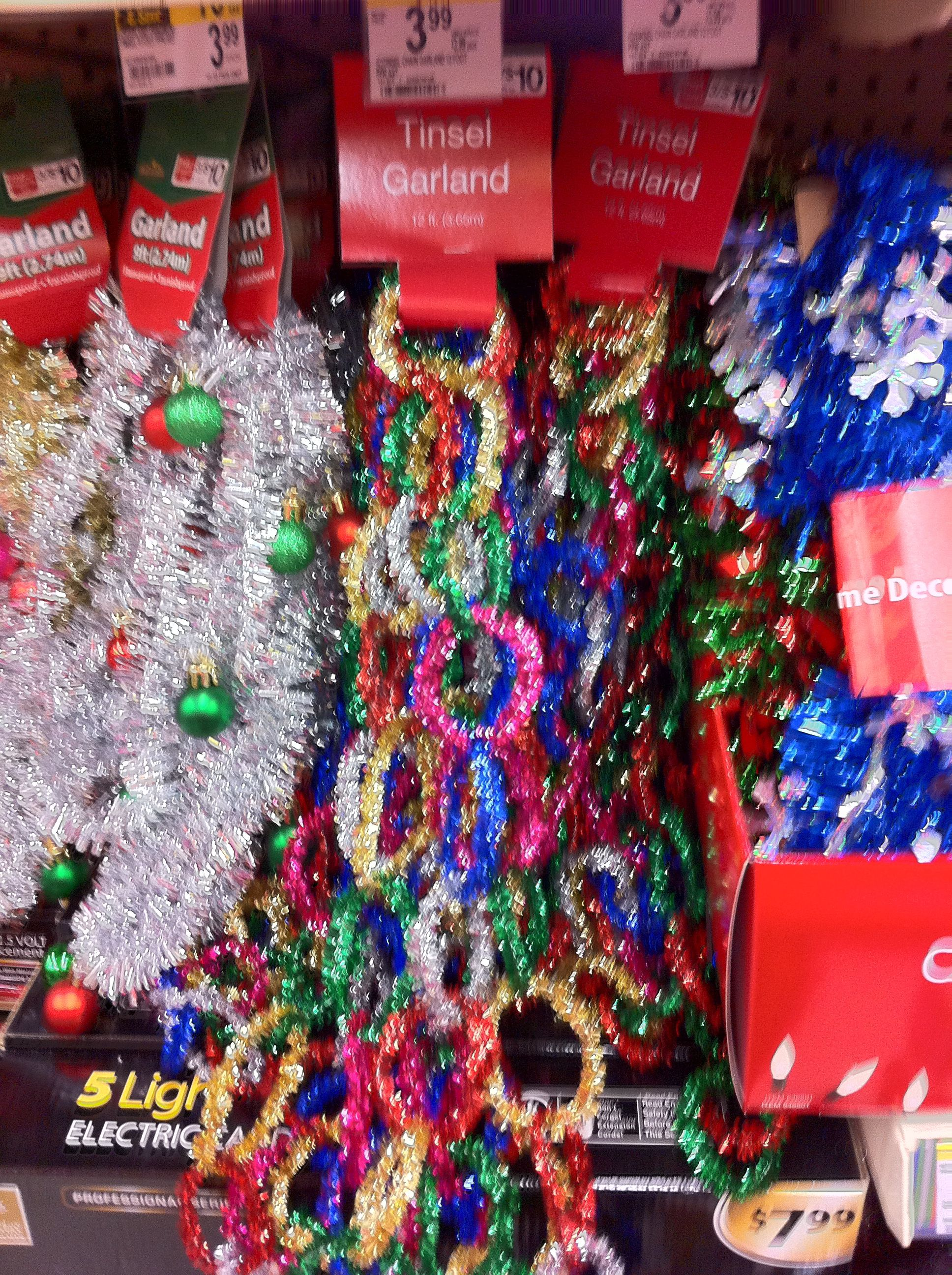 4 for pipe cleaners looped to make a 12ft garland at walgreens i