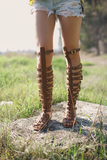 knee-high coachella gladiator sandal from Three Bird Nest. $42.80