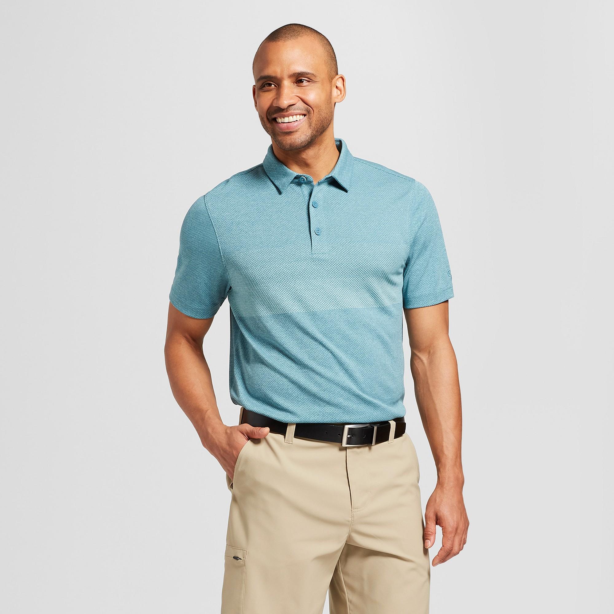4235adb1e Men s Golf Polo Shirt - C9 Champion Aqua Tonic XL