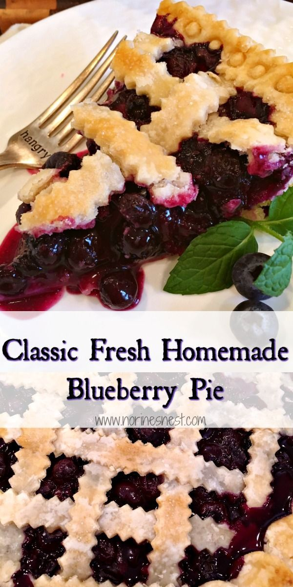 Fresh Classic Blueberry Pie | Norine's Nest