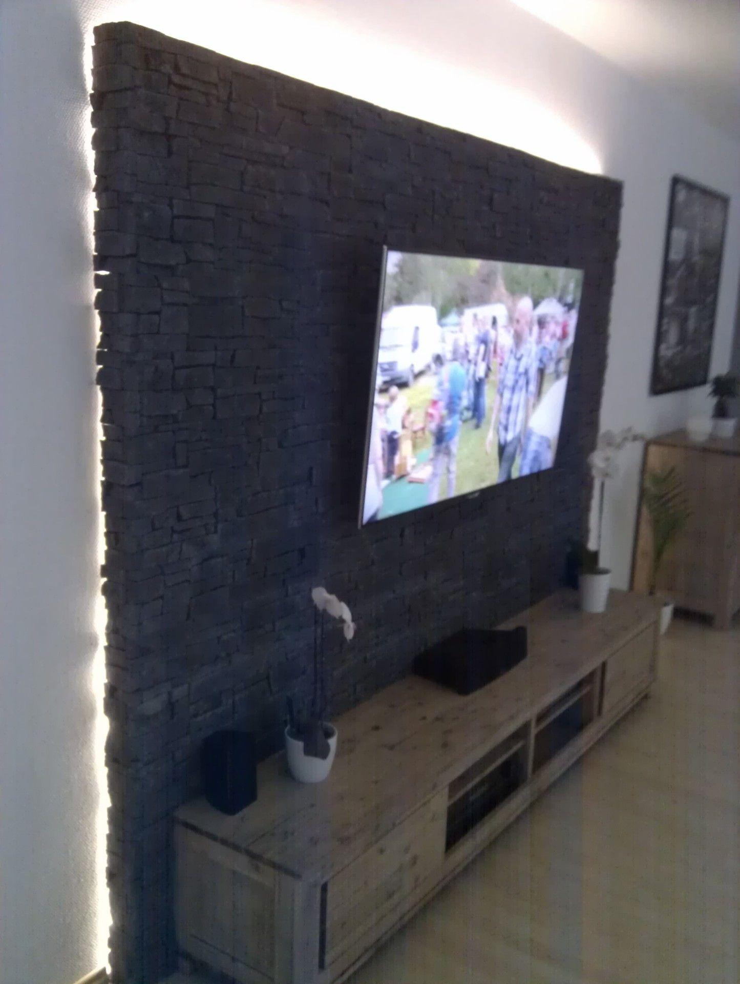 steinwand mediawand eigenbau wohnzimmer pinterest steinwand wohnzimmer und wohnzimmerwand. Black Bedroom Furniture Sets. Home Design Ideas