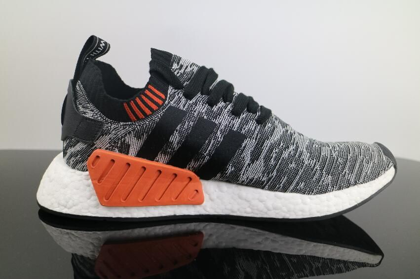 f7a3655f08295 Authentic Adidas NMD R2 Black Grey BA9409 Real Boost Free DHL Shipping for  Sale 03