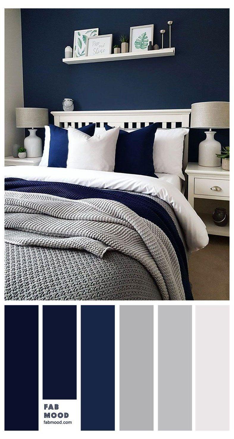 Navy Blue And Grey Bedroom Navy Blue Bedroom Navybluebedroom Bedroom Color Scheme Ideas Will Hel Blue Bedroom Walls Blue Bedroom Colors Grey Bedroom Colors