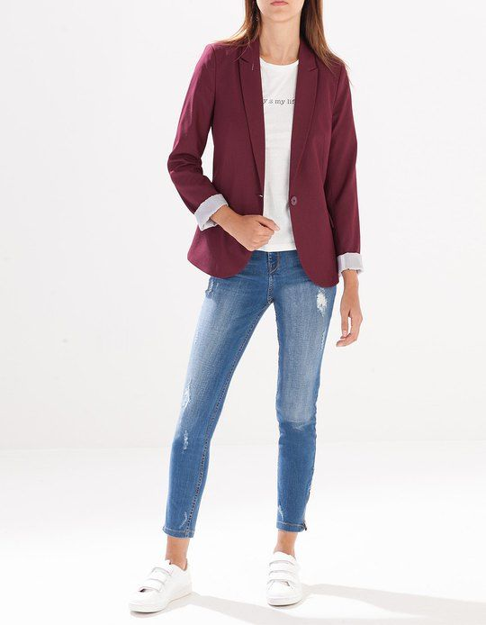 Veste jean femme stradivarius