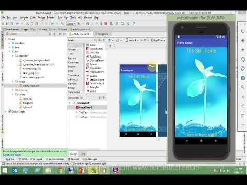 7 Android App Development-Android Frame Layout in Android Studio 3 ...