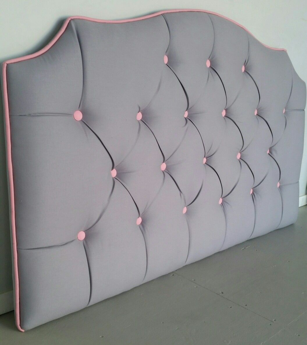 Custom Upholstered Headboards grey and pink tufted upholstered headboard custom wall mounted
