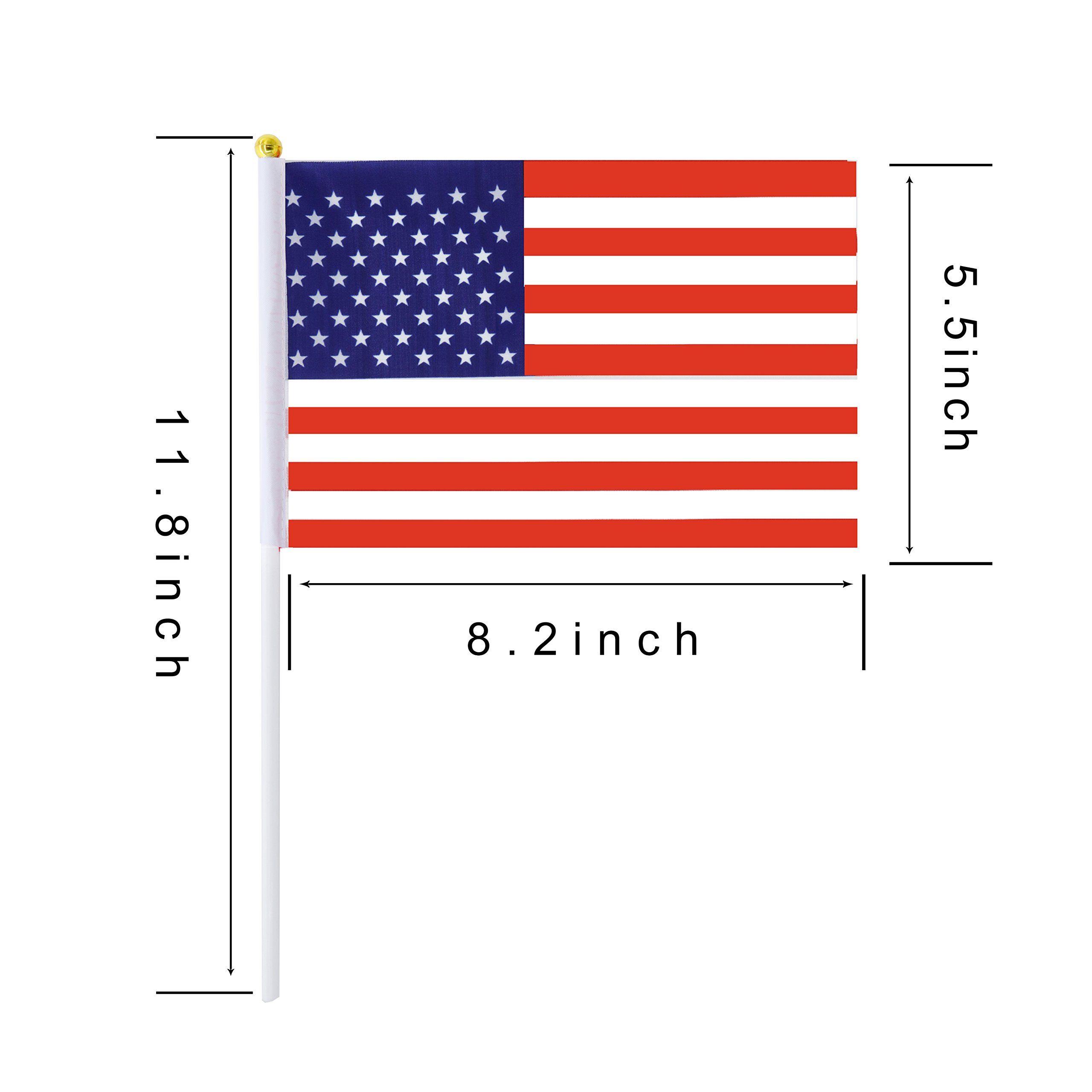 Consummate 50 Pack Usa American Stick Flag Small Mini Hand Held American Us Flags Plastic Pole Decorations Parades 4t American Flag Flag Flag Usa United States