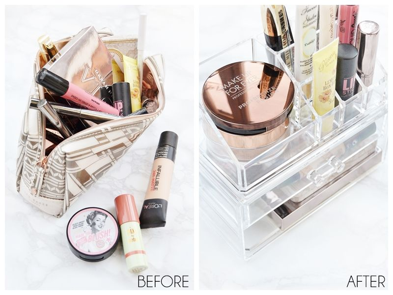 How to declutter your makeup collection and create a minimal capsule collection you with cherish