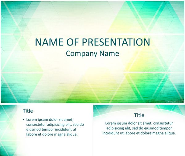 Abstract Triangles Powerpoint Template  Abstract Powerpoint