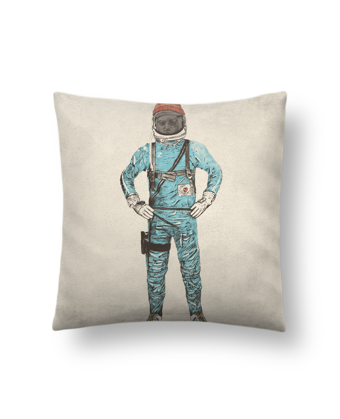 Cojín Piel de Melocotón 45 x 45 cm Zissou in space - Florent Bodart #cojines #decorativos #ideas #salon #modernos #divertidos #estampados #personalizados