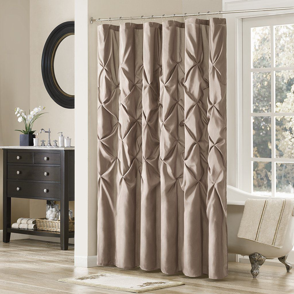 Bathroom Decor With Laurel Satin Shower Curtain 108 X 72 Mushroom Update Your