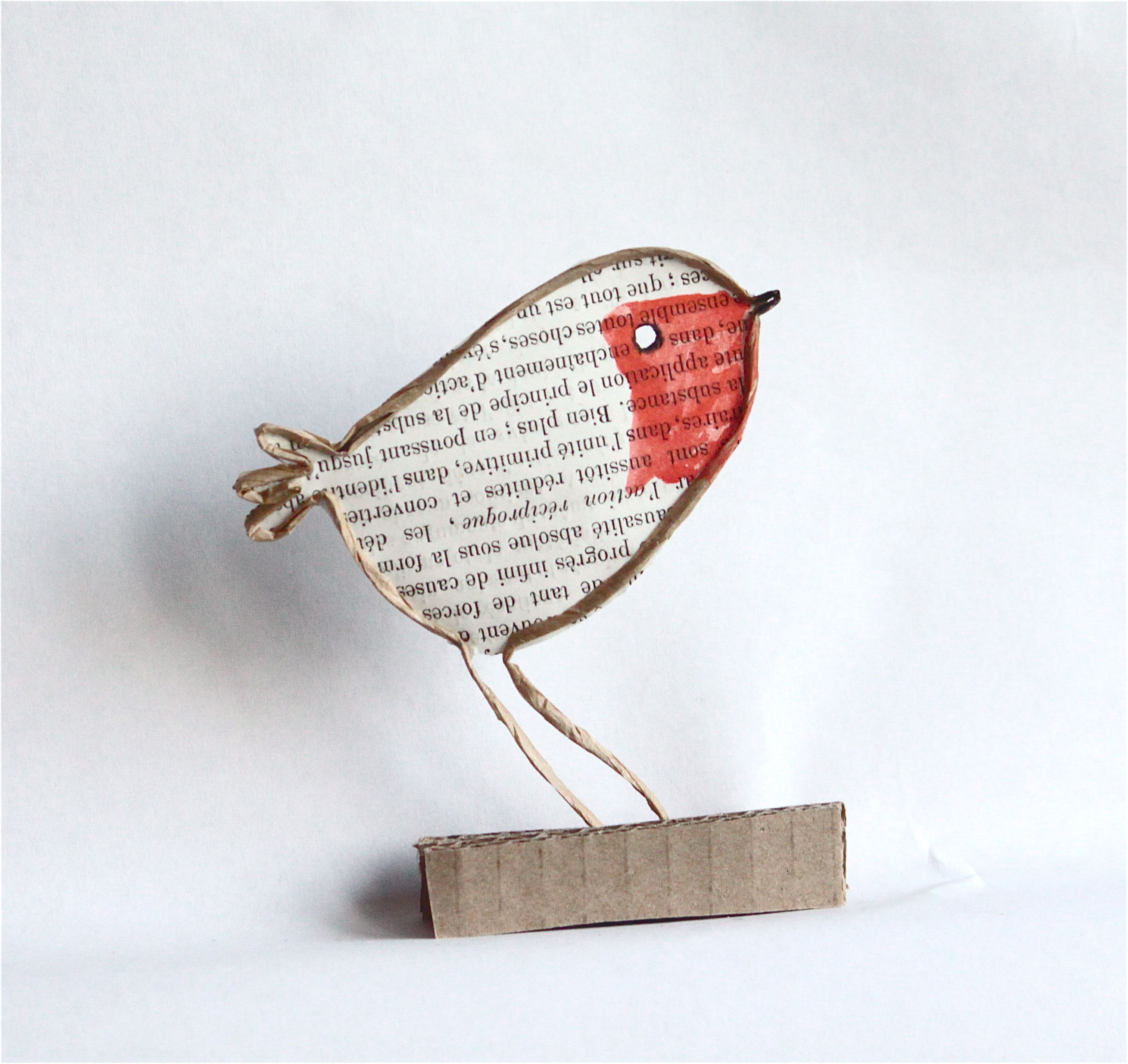 Epistyle : rouge-gorge / robin, wire and paper craft. Advent week ...