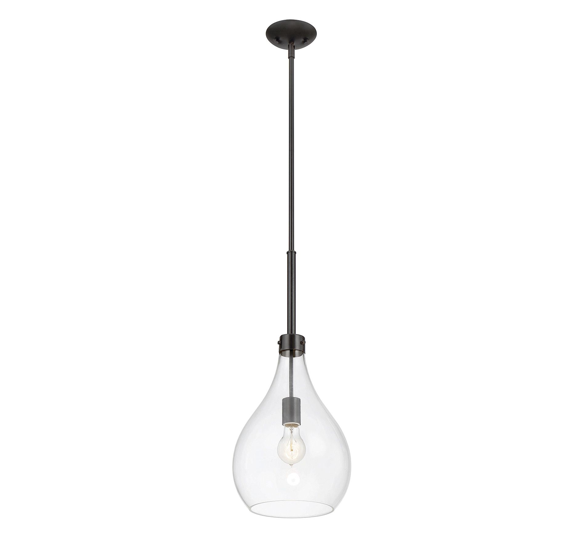 Pulaski mini pendant pendants products savoy house lighting the savoy house pulaski mini pendant showcases an oversized curved clear glass shade that pairs with the streamlined structure and oiled bronze finish for aloadofball Choice Image