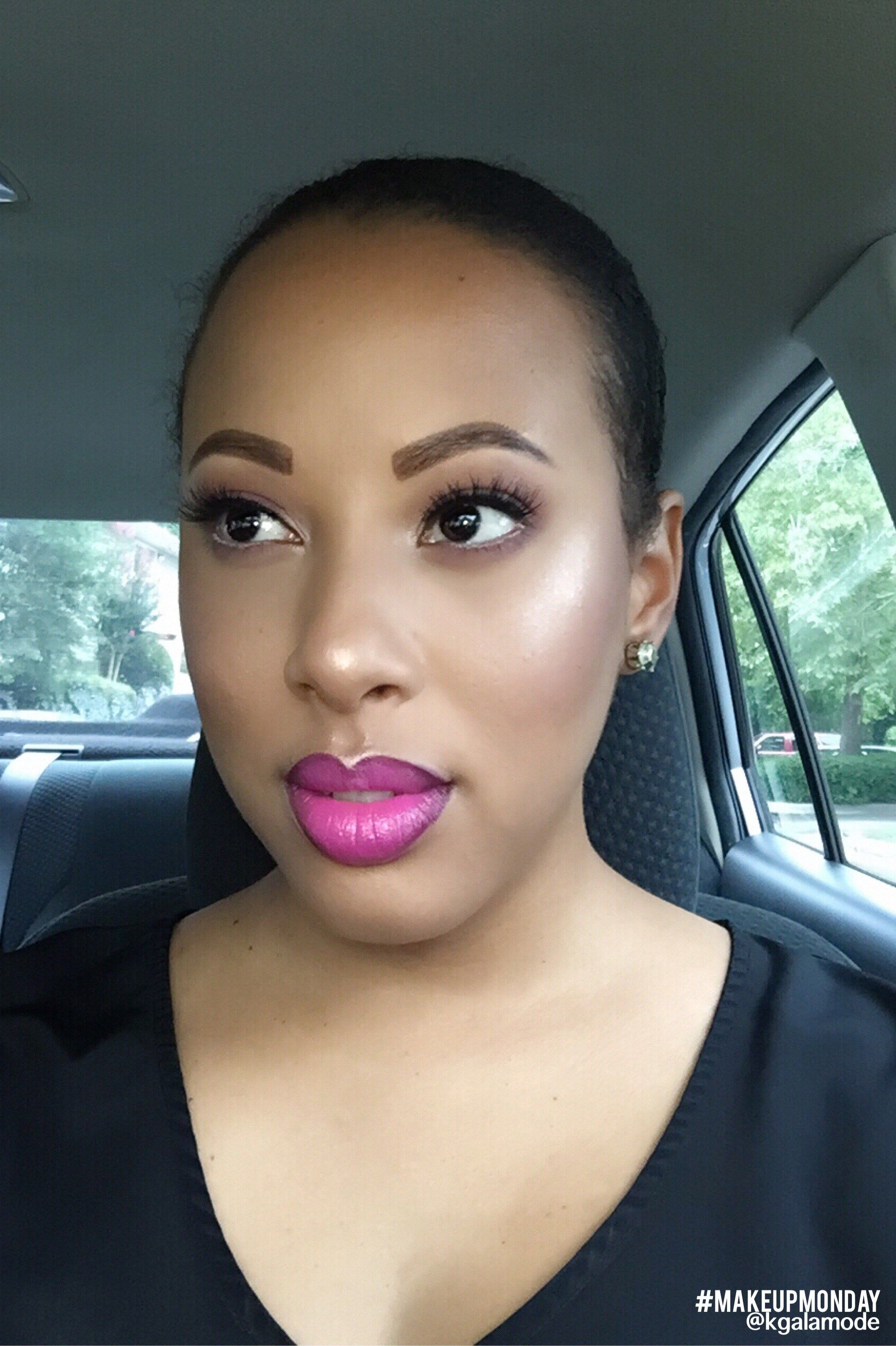 Look of the week Featuring Maybelline Color Sensational Vivids Lipcolor Fuchsia Flash