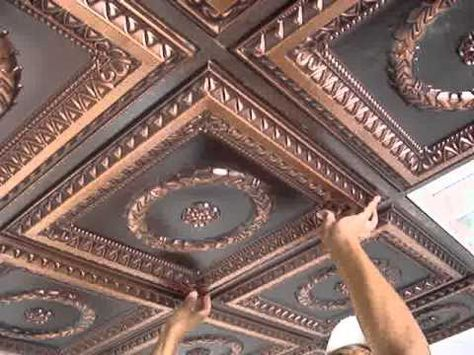 "How To Install Decorative Ceiling Tiles Downtown  Faux Tin Ceiling Tile  24""x24""  #221  Tile"