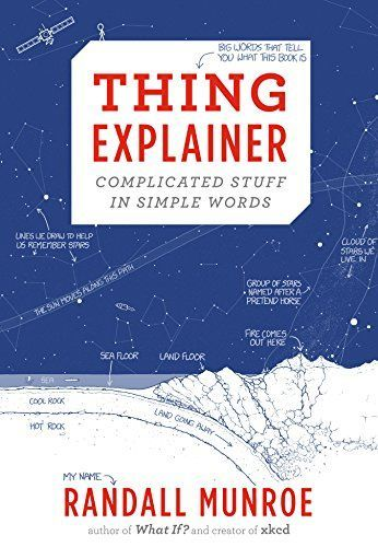 Thing Explainer: Complicated Stuff in Simple Words by Randall Munroe http://www.amazon.com/dp/0544668251/ref=cm_sw_r_pi_dp_bm83vb0GK61QE: