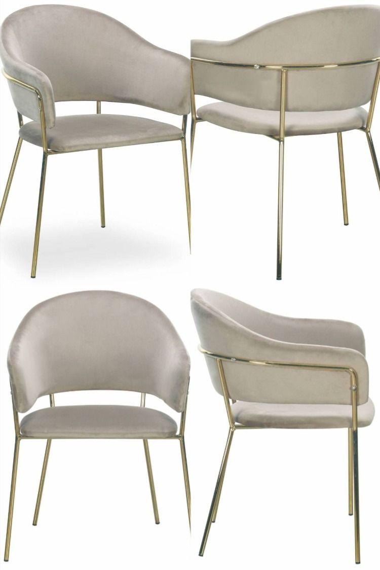 lot de 2 chaises design midel velours