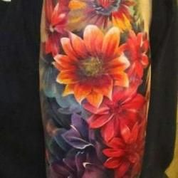 watercolor tattoo...I want something similar, but in Texas wildflowers...bluebonnets, Indian paintbrush, and buttercups