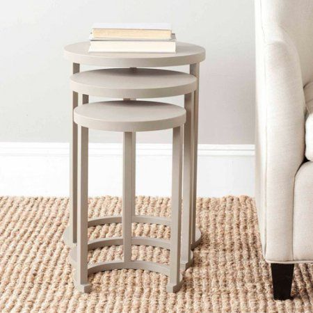 Safavieh Sawyer Stacking Table Set Of 3,, Gray