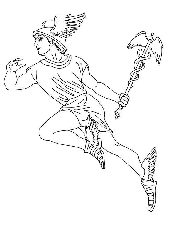 hermes mitologia greek mythology greek mythology god of herds hermes coloring page