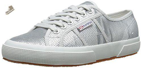 2750 Cotleasnakeu, Baskets Basses Mixte Adulte, Multicolore White (White Silver), 35 EUSuperga