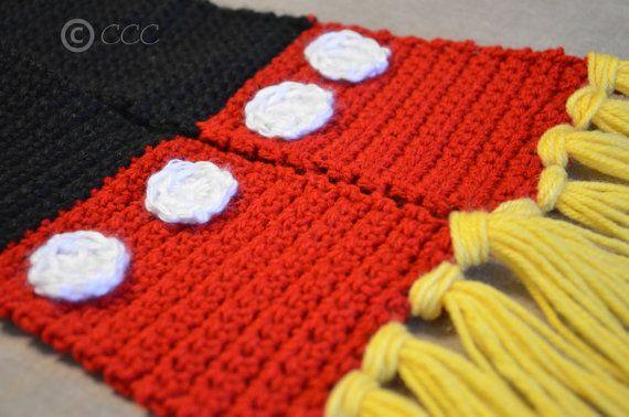 bajo precio b1434 cb9f5 bufanda mickey mouse | Cosas que adoro | Bufandas, Crochet ...