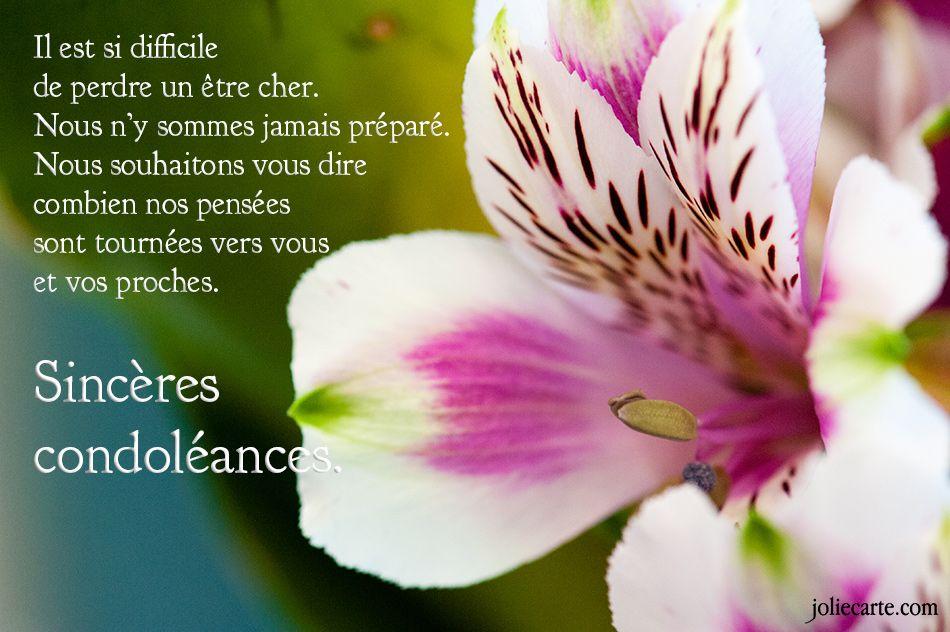 Une Jolie Carte Virtuelle Message De Condoleances Carte De