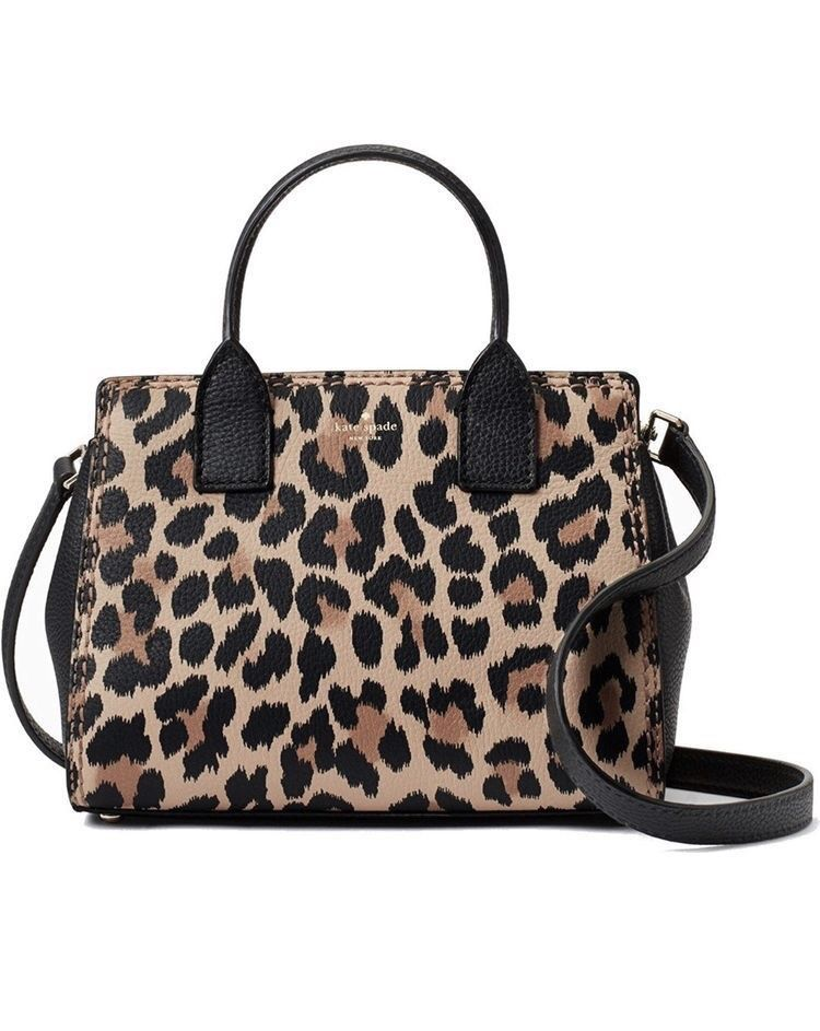 9ce2c76b30d1 Kate Spade New York Dunne Lane Leopard-Print Small Lake Satchel | My ...