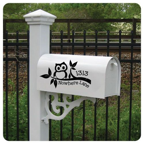 Vinyl Mailbox Lettering Decoration Decal By Offthewallvinyldecor
