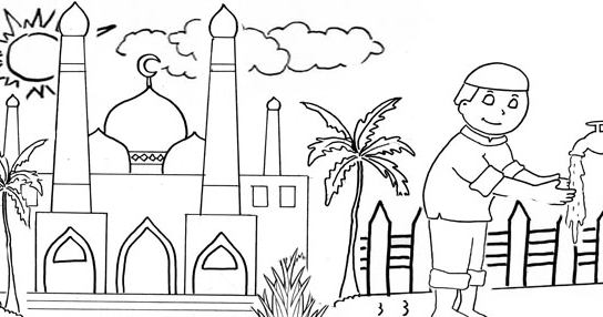 Gambar Mewarnai Masjid Gambar mewarnai masjid Selain