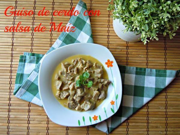 Guiso de cerdo con salsa de maíz | Cocinar en casa es facilisimo.com