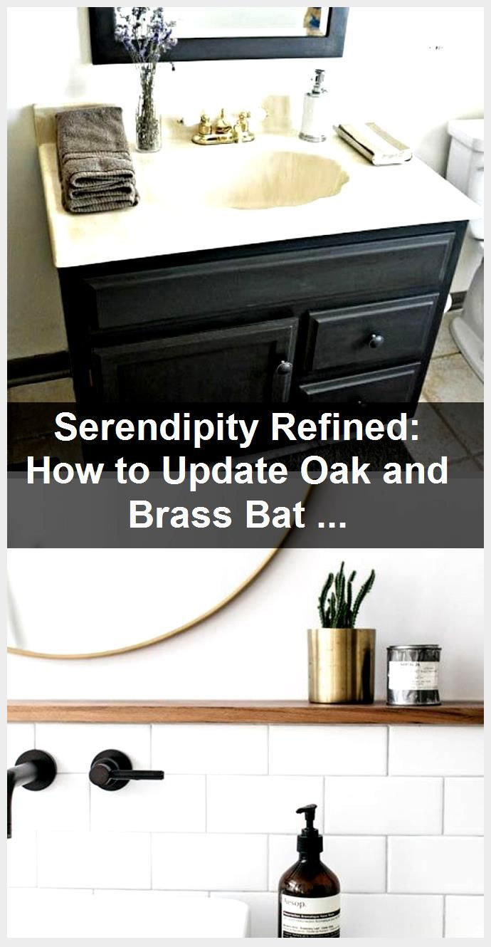 Photo of Serendipity Refined: How to Update Oak and Brass Bathroom Fixtures With Spray Pa…,  #Bathro…