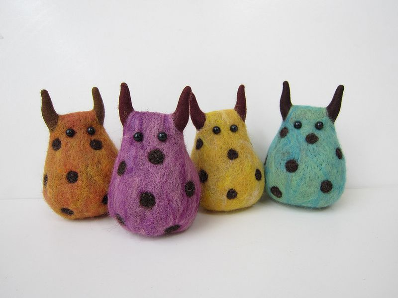 Hand craft stuffed monsters GUILTY//Chocolate chips Dot