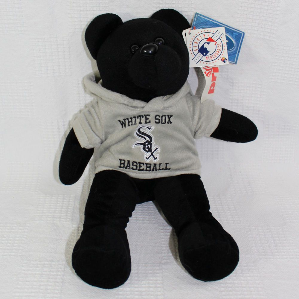 5e45241d3d8 Chicago White Sox Black Bear Grey Hoodie Forever Collectibles Plush 15  Inches  ForeverCollectibles  ChicagoWhiteSox