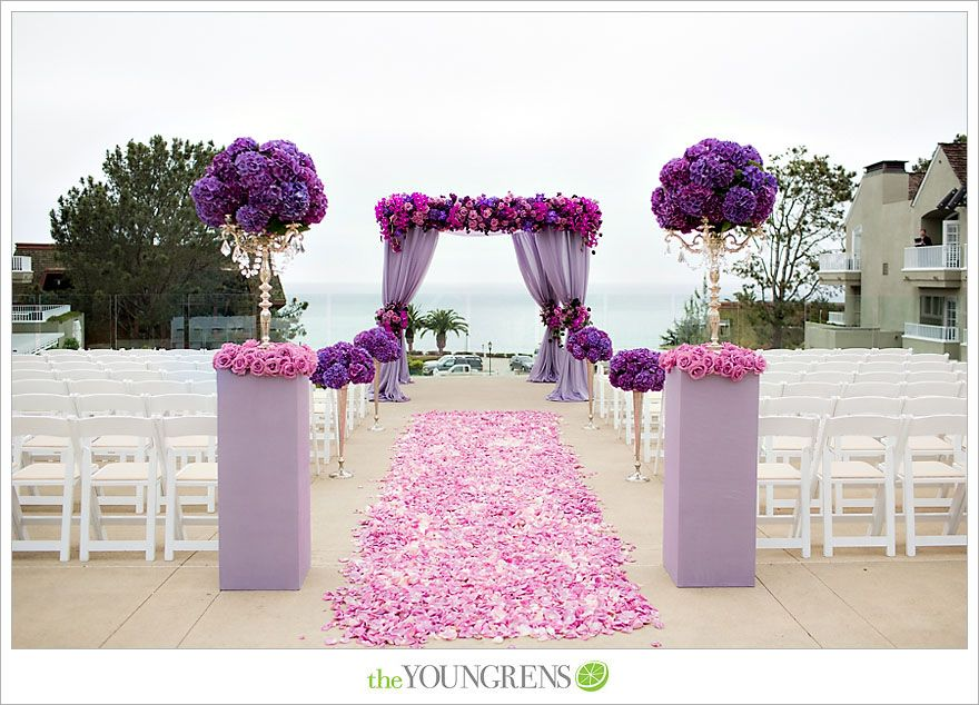 I love the purple curtains & the flower petals