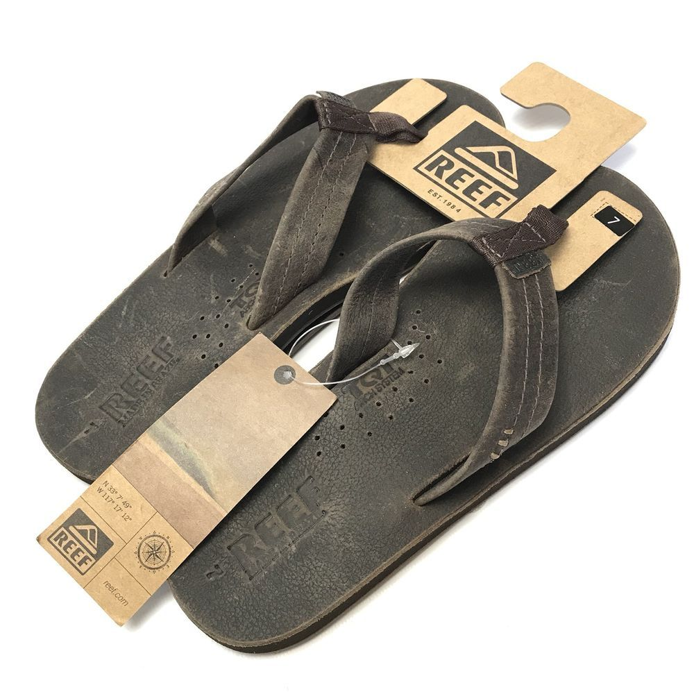 048298c37ab6f Mens Reef Draftsmen Flip Flops Brown Sandals Uk 6 EUR 39 Bottle Opener  Beach 888366354353 | eBay
