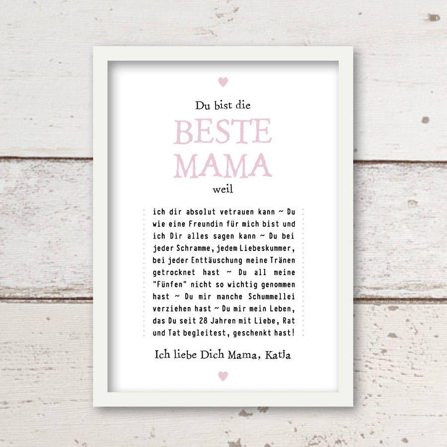 Wundervolles pers nliches geschenk zum muttertag beste - Bastelideen geburtstag mama ...