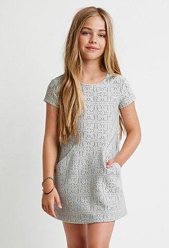 Girls ace Overlay Sweater Dress (Kids) | Forever 21 girls ...